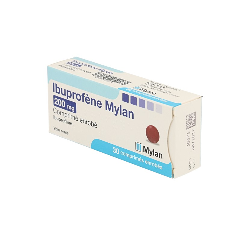 Médicament IBUPROFENE 200MG MYLAN CPR 30 - Infos médicaments