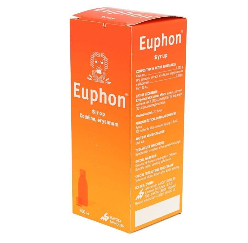 Médicament EUPHON SP 300ML - Infos médicaments